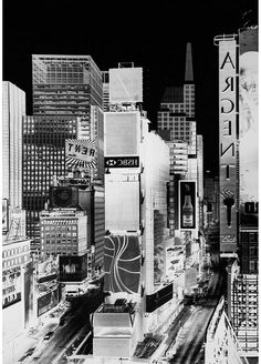 Inverted Black and White images of NYC by Vera Lutter. Never seen the city like this before.