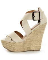 nude wedges. go with everything