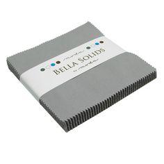 Bella Solids/Grey Charm Pack/Moda/Precuts by SewFabricDeals, $7.00