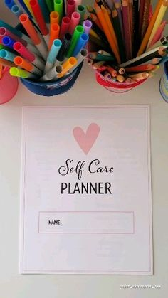 Printable self-care planner Includes 14 pretty pages to help you get started with your self-care routine and keep track of your self-care goals. routine videos Printable Self-Care Planner Bullet Journal Diy, Self Care Bullet Journal, Bullet Journal Ideas Pages, Bullet Journal Inspiration, Journal Pages, Daily Journal, Bullet Journal Printables, Writing In A Journal, Bullet Journal First Page