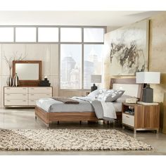 Candiac Bedroom Set W Panel Bed