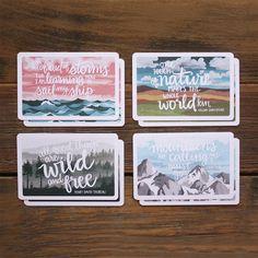 Szenischen Postkarten-Set