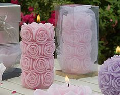 Your place to buy and sell all things handmade Rose Candles - Pillar Candles - Wedding candles - White Candles - Decorative candles Mini Candles, Taper Candles, White Candles, Handmade Candles, Decorative Candles, Rose Candle, Candle Wedding Favors, Candle Shop, Beautiful Candles