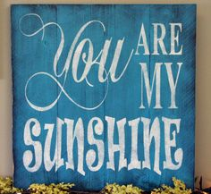 You Are My Sunshine Pallet Sign Nursery Decor Childrens Room Decor Shabby Chic Beach Rustic Vintage Distressed Wood Wall Sign on Etsy, $50.00