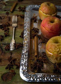 Bratäpfel mit Marzipan