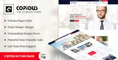 Copious – is a clean, Modern HTML5 Template. Copious is best suited for corporate website like Financial Advisor, Consulting, Industrial, Factory, manufacturing, Logistics, transportation, firm etc. This is a business template that is help full for online presence for Corporate Business.