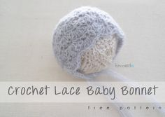 Crochet Baby Mittens Lace Bonnet free crochet pattern from B. - Make a beautiful lace crochet baby bonnet with Patons Lace Sequin and this free pattern from B. They make perfect baby shower gifts! Baby Bonnet Pattern, Crochet Baby Bonnet, Newborn Crochet, Crochet Baby Booties, Crochet Beanie, Beanie Pattern, Crochet Gratis, Crochet Mittens, Crochet Lace