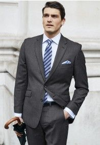 Keep your cool and your style whatever the weather, in these Super Merino wool suits. A luxurious yet eminently practical suiting fabric, Merino has natural elasticity and breathability, making these suits a pleasure to wear. Summer Suits, Tailored Suits, Wool Suit, Mens Suits, Herringbone, Fashion Suits, Mens Fashion, Your Style, Charcoal