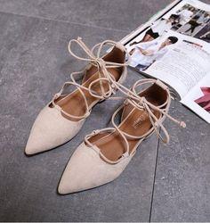 Summer Women Ballerina Flats Pointed Toe