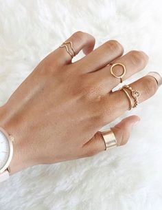 2 Gold Chevron Arrow Rings, Stack Rings, Thin Gold Rings, Dainty Rings by OliveGems on Etsy https://www.etsy.com/listing/480585534/2-gold-chevron-arrow-rings-stack-rings