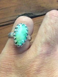 A personal favorite from my Etsy shop https://www.etsy.com/listing/555346499/sterling-silver-kingsman-turquoise-ring