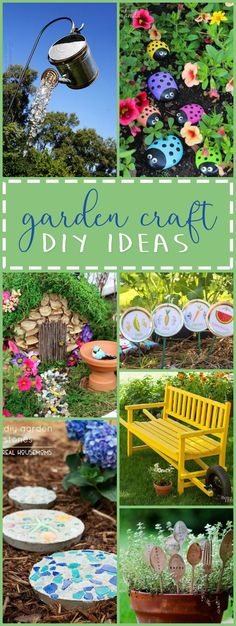 These DIY garden crafts are the perfect projects to display throughout your garden. These crafts are a fun & creative way to personalize your garden space!