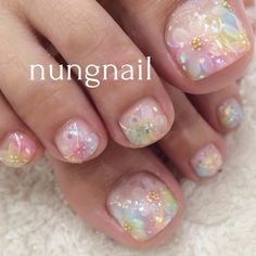 I'd Luv to have my nails like this! Pedicure Nail Art, Pedicure Designs, Toe Nail Designs, Toe Nail Art, Feet Nails, My Nails, Nail Art Pieds, Flower Nails, Creative Nails