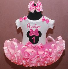 Birthday Tutu Set Minnie Mouse First by LittleKeikiBouTiki on Etsy, $89.95