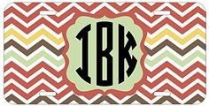 Personalized Monogrammed Chevron Coral Purple License Plate Auto Tag Top Craft Case http://www.amazon.com/dp/B00N025AWI/ref=cm_sw_r_pi_dp_9Kotub1XFZ6K1