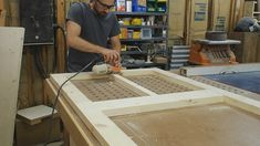 Mike Poorman from Woodshop Mike walks through how to build a DIY screen door from scratch. Screened Porch Doors, Screened In Deck, Front Porch, Custom Screen Doors, Wood Screen Door, Country Life, House Design, Building, Modern