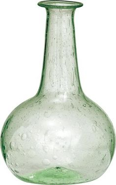 Light Green Recycled Glass Vase (onion design)