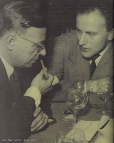 Jean-Paul Sartre and Boris Vian