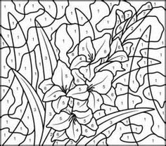 Nicoles Free Coloring Pages COLOR BY NUMBERS FLOWERS