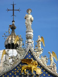 Detalhe da Basílica de São Marcos, em Veneza, na itália