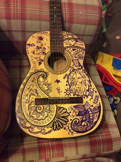 Sharpie guitar tatoos