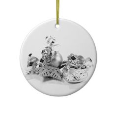 Silver Christmas Decorations Ornament for you at www.zazzle.com/superdumb