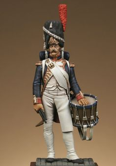 drummer of grenadiers of Imperial Guard, D. Military Figures, Military Diorama, Napoleon French, French Models, French Army, Napoleonic Wars, Figure Model, Toy Soldiers, Tambour