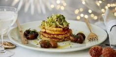 Christmas vegetarian recipe: Sweet and sour pumpkin, caramelised chestnuts & stir-fried Savoy cabbage