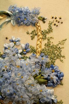 Embroidery and ribbon flowers by Tanyastom