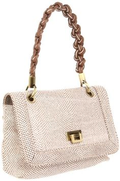 Treesje Women�s Olivia Shoulder Bag, Ivory Snake, One Size