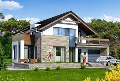 Proiect casa IE286 - Casa Z Cottage Design, Home Fashion, Cabana, Home Projects, House Plans, Exterior, Villa, Mansions, House Styles