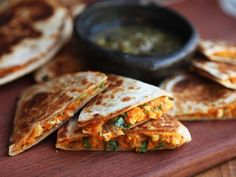 Swapping sweet potatoes for cheese in your go-to quesadilla recipe may sound wacky, or downright sacrilegious. Turns out, though, it's one of the most delicious combos we've tried in a while.