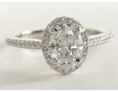 1.23 Carat Diamond Oval Halo Diamond Engagement Ring | Blue Nile Engagement and Wedding Rings