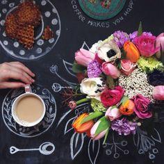 .@lacy_bird   Доброе утро всем, кто с нами!  Говорят, кофе в постель и букет от @lacy_bird ...   Webstagram