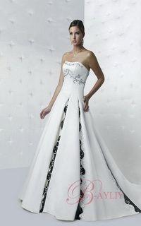 celtic wedding dress - a-line strapless