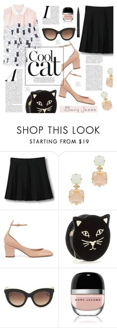 """""""Cool Cat"""" by lilith1521 ❤ liked on Polyvore featuring WithChic, Lele Sadoughi, Valentino, Charlotte Olympia, Victoria Beckham, Marc Jacobs and Bobbi Brown Cosmetics"""