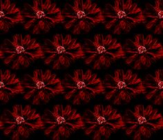 red and black poppies fabric by terri0859 on Spoonflower - custom fabric
