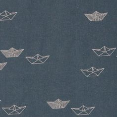 b0e30f0d Cotton dk blue w paper boats - Stoff & Stil - Woven cotton is ideal for  table cloths, cushions and bespread and linens.