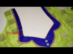 beautiful patch work blouse design stitching with lace Patch work blouse back neck design cutting & stitching / blouse designs - . Patch Work Blouse Designs, Kids Blouse Designs, Simple Blouse Designs, Blouse Back Neck Designs, Sari Blouse Designs, Designer Blouse Patterns, Hand Designs, Blouse Designs Catalogue, Churidar Neck Designs