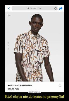 ZARA - Male - Bamboo print shirt - Taupe brown - S Pique Shirt, Formal Shirts For Men, Funny Mems, Travel Shirts, Floral Print Shirt, Quality Memes, Zara Man, Ripped Denim, Best Memes