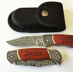 Personalized Custom Engraved Pocket Knife Rosewood Handle Groomsmen, Father's day Gift free Pouch -- Find out more details @ https://www.amazon.com/gp/product/B00D3T13C4/?tag=homeimprtip08-20&phi=120816044005