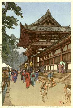 Daibutsu Temple Gate  by Hiroshi Yoshida, 1940