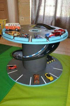 DIY Race Car Track projects your kids will love - FarmFoodFamily . - DIY Race Car Track projects your kids will love – FarmFoodFamily – - Race Car Track, Race Cars, Race Car Room, Sport Cars, Car Tracks For Kids, Diy For Kids, Crafts For Kids, Car Crafts, Wood Spool