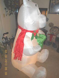 Airblown Inflatable Animated Christmas Polar Bear Yard Decor 5 Ft | eBay
