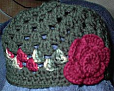 Crocheted Flapper with Rose Pin Hat Pattern