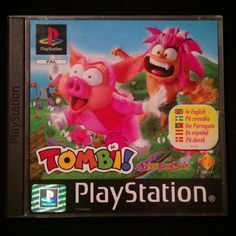 By almostagameaday: Probably one of the most colorful PS1 game covers. Anybody know why it has two names? I've seen it as both Tombi and Tomba? #tombi #tomba #pinkhair #pig #sidescroller #ps1 #PlayStation #game #gamer #gaming #nerd #geek #gamerlife #collector #consolegames #sony #gamingislife #retro #retrogaming #retrogames #gameart #pelaaja #pelit #retropelit #keräily #retrogaming #microhobbit