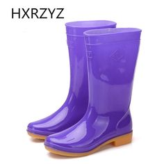 21.05$  Buy now - http://alizud.shopchina.info/go.php?t=32801335633 - water shoes 2017 spring and autumn fashion high-top rain boots women's ankle rubber boots Blue and red Non-slip rain shoes 21.05$ #aliexpress