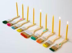 Post Image Hanukkah Crafts, Hanukkah Decorations, Hanukkah Menorah, Hannukah, Hanukkah Candles, Diy Lit, Diy Paper, Paper Flowers, Party