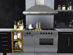 The Sims Resource - TSR Vanadium Kitchen by wondymoon - Sims 3 Downloads CC Caboodle