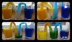 spojené nádoby + míchání barev